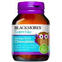 Blackmores Superkids Omega Brain Chewables 60 Tablets