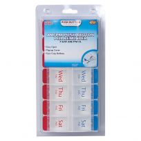 Ezy Dose Pill Reminder AM/PM Push Button 7 Day XL