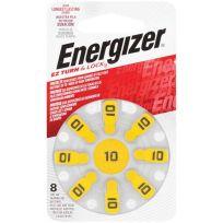 Energizer Hearing Aid Battery EZ10 Turn & Lock 8 Pack