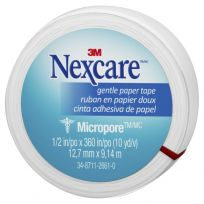 Nexcare Micropore Gentle Paper Tape White 12mm x 9m