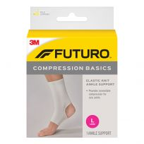 Futuro Ankle Compression Basics Elastic Knit Support Large