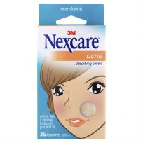 3M Nexcare Acne Absorbing Covers Assorted 36 Pack