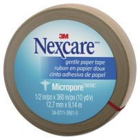 Nexcare Micropore Gentle Paper Tape TAN 12.5mm x 9.14M