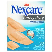 Nexcare Heavy Duty Fabric Bandages 30 Pack Assorted