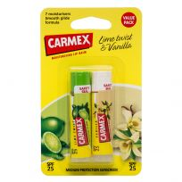 Carmex Lip Balm Lime Twist & Vanilla SPF 25 Twin Pack