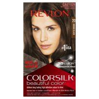 Revlon ColorSilk Beautiful Hair Color 20 Brown Black