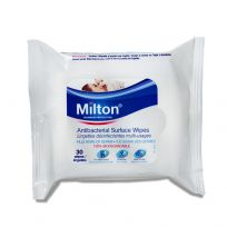 Milton Baby Antibacterial Surface Wipes 30 Pack