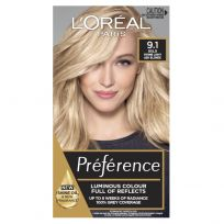 L'Oreal Paris Preference Hair Colour 9.1 Light Ash Blonde