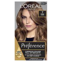 L'Oreal Paris Preference Hair Colour 7 Vienna Dark Blonde