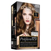 L'Oreal Paris Preference Hair Colour 5.3 Siena Golden Brown