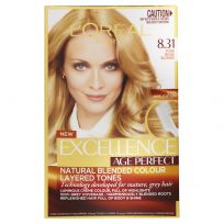 L'Oreal Excellence Age Perfect Hair Colour 8.31 Pure Beige Blonde