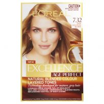 L'Oreal Excellence Age Perfect Hair Colour 7.32 Dark Gold Rose Blonde