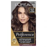 L'Oreal Paris Preference Hair Colour 6.21 Zurich Cool Iridescent Light Brown