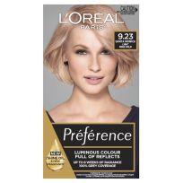 L'Oreal Paris Preference Hair Colour 9.23 Santa Monica Light Rose Gold