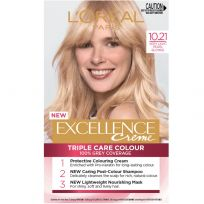 L'Oreal Paris Excellence Triple Care Hair Colour 10.21 Very Light Pearl Blonde