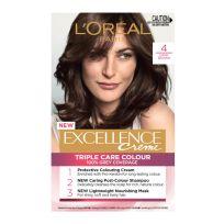 L'Oreal Paris Excellence Triple Care Hair Colour 4 Dark Brown