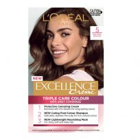 L'Oreal Paris Excellence Triple Care Hair Colour 5 Natural Brown