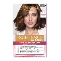 L'Oreal Paris Excellence Triple Care Hair Colour 5.3 Golden Brown