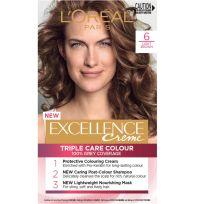 L'Oreal Paris Excellence Triple Care Hair Colour 6 Light Brown