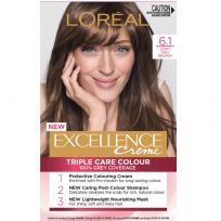 L'Oreal Paris Excellence Triple Care Hair Colour 6.1 Light Ash Brown