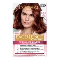 L'Oreal Paris Excellence Triple Care Hair Colour 6.54 Light Copper Mahogany Brown