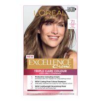 L'Oreal Paris Excellence Triple Care Hair Colour 7.1 Dark Ash Blonde