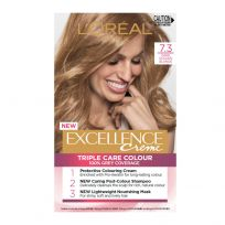 L'Oreal Paris Excellence Triple Care Hair Colour 7.3 Dark Golden Blonde