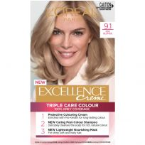 L'Oreal Paris Excellence Triple Care Hair Colour 9.1 Light Ash Blonde