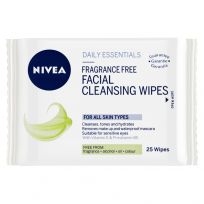 Nivea Daily Essentials Fragrance Free Facial Wipes 25 Pack