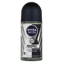 Nivea Men Antiperspirant Deodorant Invisible Black & White Roll On 50ml