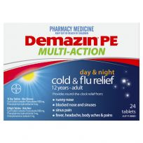 Demazin PE Multi Action Day & Night Cold & Flu Relief 24 Tablets