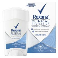 Rexona Women Clinical Antiperspirant Deodorant Shower Clean 45ml Stick