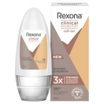 Rexona Women Clinical Antiperspirant Deodorant Summer Strength Roll On 50ml