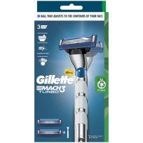 Gillette Mach3 Turbo Razor 1 Handle + 2 Cartridges