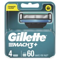 Gillette Mach3+ Replacement Cartridges 4 Pack