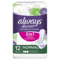 Always Discreet Normal 12 Pads Pack