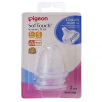 Pigeon Peristaltic Plus Teat Wide Neck Small 2 Pack