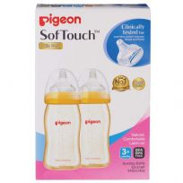 Pigeon Wide Neck Bottle 240ml 2 Pack