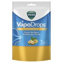 Vicks VapoDrops Lozenges Butter Menthol 24 Pack