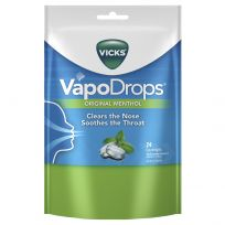 Vicks VapoDrops Lozenges Original Menthol 24 Pack