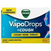 Vicks VapoDrops + Cough Lozenges Honey Lemon Menthol 36 Pack