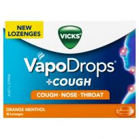 Vicks VapoDrops + Cough Lozenges Orange Menthol 36 Pack