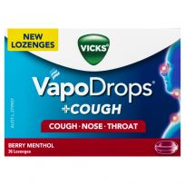 Vicks VapoDrops + Cough Lozenges Berry Menthol 36 Pack