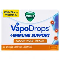 Vicks VapoDrops Immune Support Lozenges Orange 36 Pack