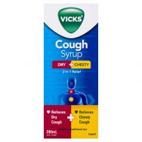 Vicks 2 In 1 Dry + Chesty Cough Liquid 200ml