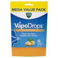 Vicks VapoDrops Butter Menthol 42 Lozenges