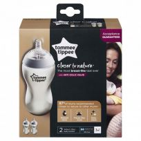 Tommee Tippee Closer to Nature Feeding Bottles 340ml 2 Pack