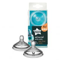 Tommee Tippee Closer to Nature Anti Colic Fast Flow Teats 2 Pack
