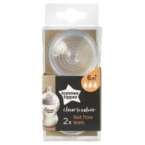 Tommee Tippee Closer To Nature Teats 6m+ Fast Flow 2 Pack