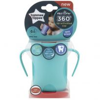 Tommee Tippee 360 Trainer cup with handles 200ml Teal